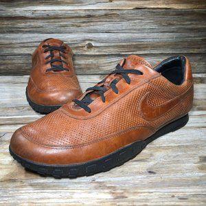 Nike Waffle Racer III Brown Leather Sneaker Men